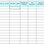 Nova versió d'un llistat de control de llibres llegits