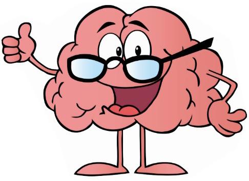Cervell Pensa pensa amb ulleres