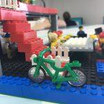Espai per deixar les bicicletes