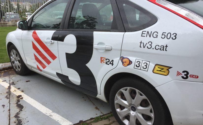 Visita a les instal·lacions de TV3